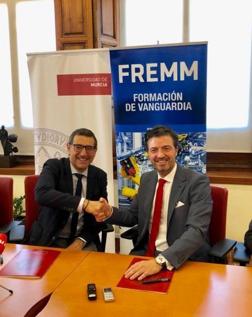 La Universidad de Murcia y FREMM acuerdan impulsar la formación y el empleo - 1, Foto 1
