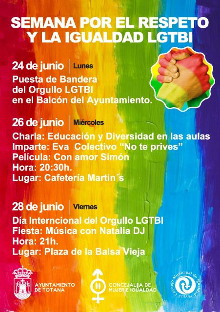 The Department of Women and Equality organizes several activities on the occasion of the Week for Respect and Equality LGTBI