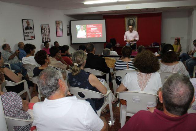 Diego Conesa visitará Cartagena, Murcia y Lorca la próxima semana para explicar las líneas de su programa, Foto 5