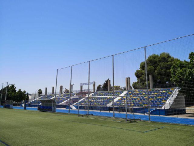 Obras de mejora en las instalaciones del polideportivo municipal de Alcantarilla - 1, Foto 1