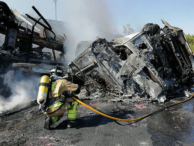 Un conductor de un camión fallece en accidente de tráfico en Puerto Lumbreras - 1, Foto 1