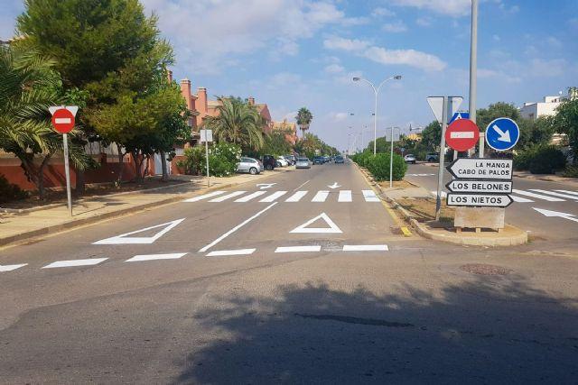 El Ayuntamiento invierte 55.000 euros para mejorar la señalización viaria en los pueblos del litoral de Cartagena - 1, Foto 1
