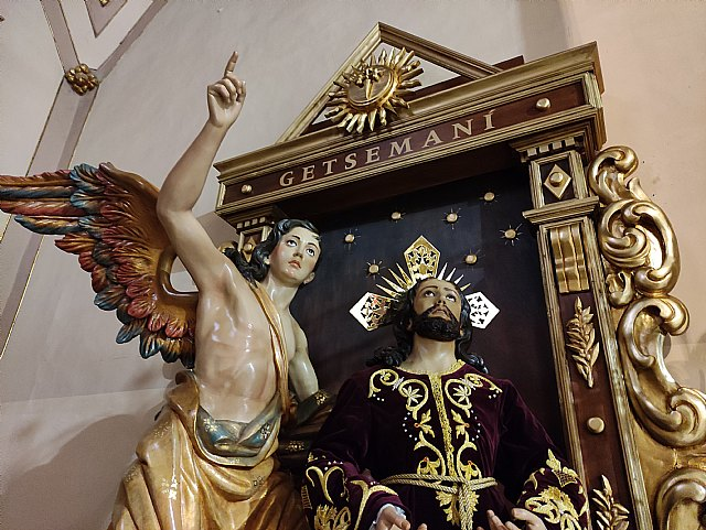 La Hdad. de la Oración en el Huerto estrena retablo en la Iglesia de Santiago el Mayor de Totana, Foto 5