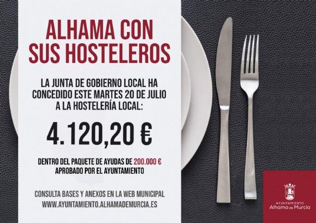 La Junta de Gobierno aprueba las últimas solicitudes de ayuda a la hostelería de Alhama - 1, Foto 1