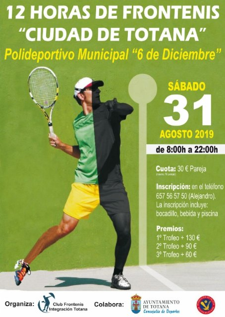 II Torneo 12 Horas de Frontenis Ciudad de Totana, Foto 1