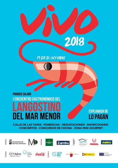 San Pedro del Pinatar acoge el I Encuentro Gastronómico del langostino del Mar Menor Vivo 2018 - 3, Foto 3