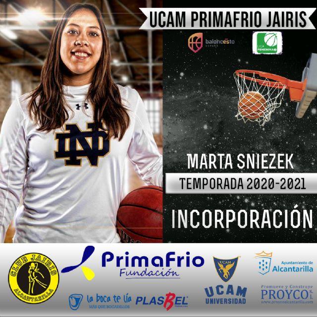 Marta Sniezek nueva incorporación del UCAM Primafrio Jairis de LF2 - 1, Foto 1