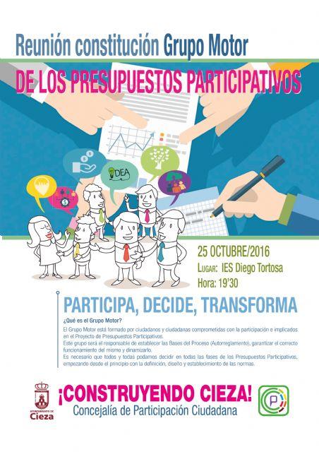 El grupo motor de los presupuestos participativos comenzará  a andar el próximo martes - 1, Foto 1