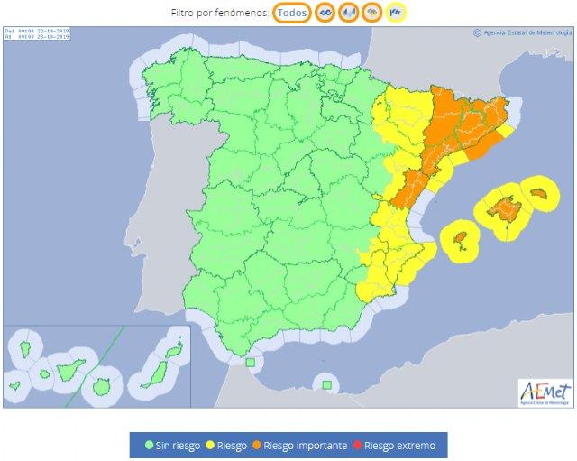 Otra DANA nos va a afectar, pero esta vez no provocar� lluvias torrenciales en el sureste, seg�n Protecci�n Civil de Totana, Foto 2