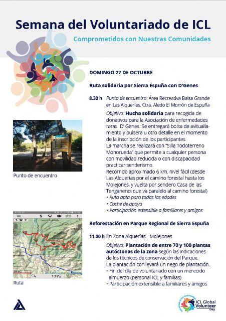 El próximo domingo, 27 de octubre, se celebrará una ruta solidaria con D´Genes por Sierra Espuña, Foto 1
