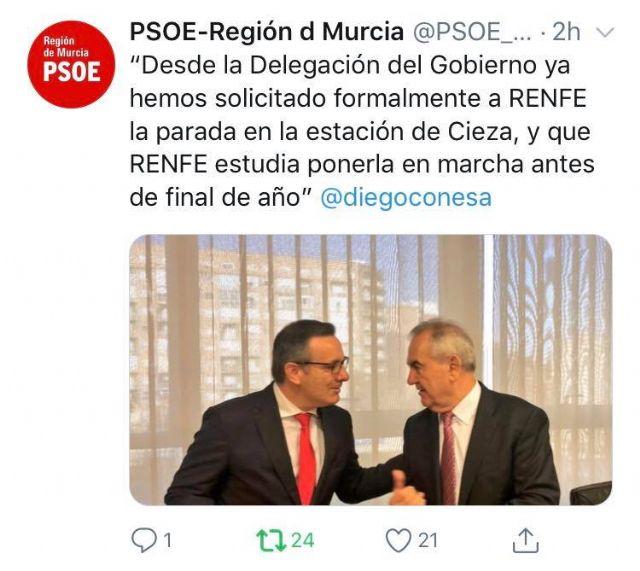 PSOE: Pascual Lucas ha pedido una reunión al Delegado del Gobierno para cerrar la fecha de llegada del Altaria - 1, Foto 1