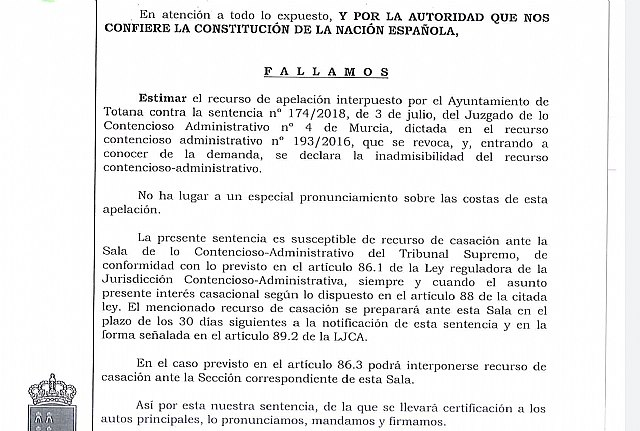 The TSJ revokes the sentence that forced the City Council to reintegrate the Galician developer of the urban development agreement of El Raiguero almost 2.5 million euros