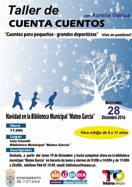 Cultura organiza un Cuentacuentos de Navidad el próximo 28 de diciembre, dirigido por la escritora Aurelia García - 1, Foto 1