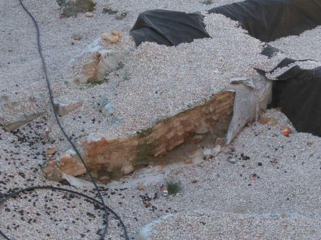 Huermur solicita a Cultura y al Ayuntamiento reparaciones urgentes del geotextil de San Esteban - 1, Foto 1