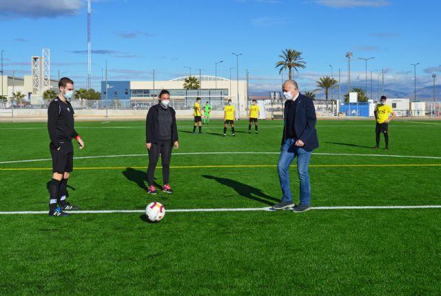 El juvenil del Atlético Torreño estrena el nuevo césped artificial del municipal Onofre Fernández Verdú - 1, Foto 1