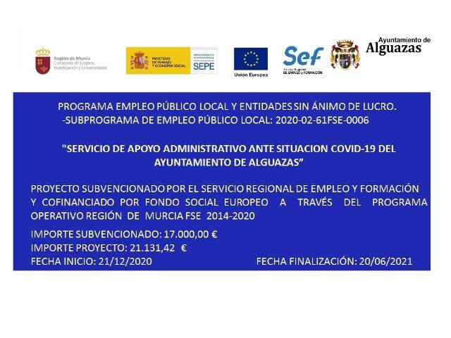 Nicia el Programa de Empleo Público Local con la contratación de dos desempleados del municipio para realizar trabajos administrativos - 1, Foto 1