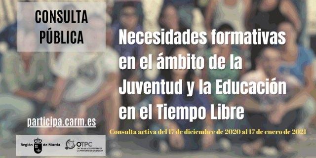 Consulta pública sobre necesidades formativas en el ámbito de la Juventud y la educación en el tiempo libre - 1, Foto 1