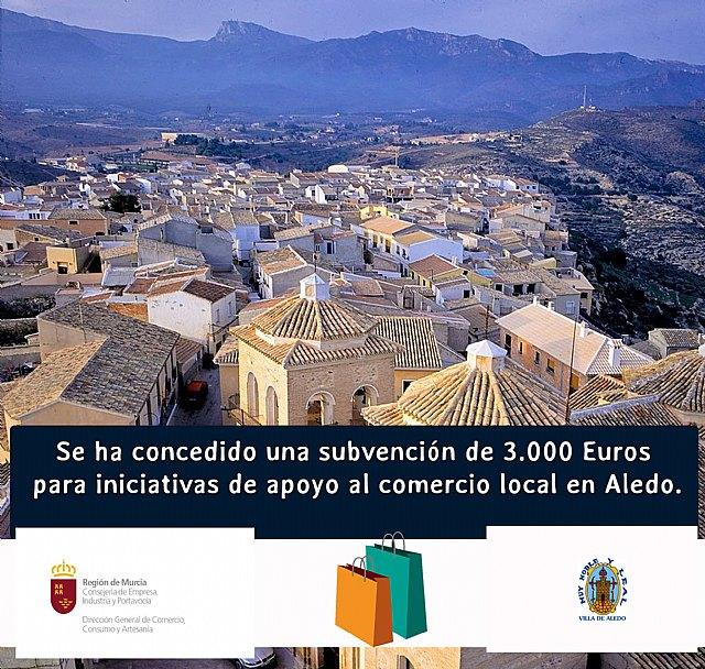 El Ayuntamiento de Aledo ha recibido 3.000 euros de una subvención para apoyo al comercio local - 1, Foto 1