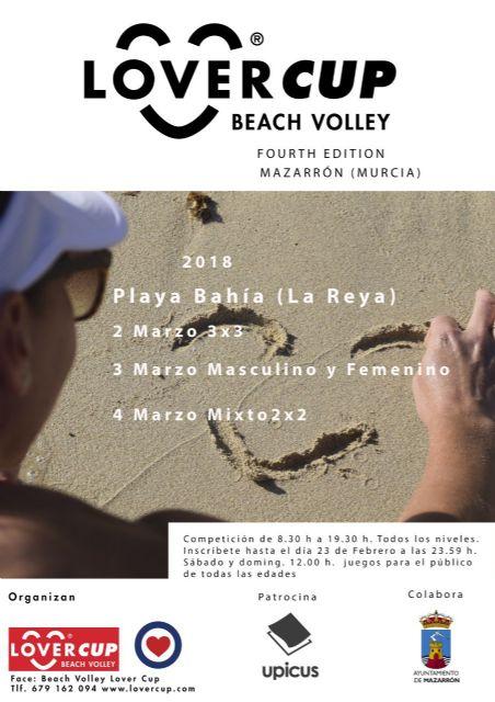 La playa de Bahía acoge el primer fin de semana de marzo la Beach Volley Lover Cup, Foto 2