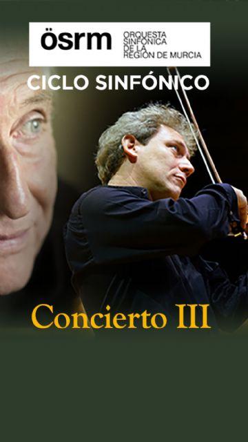 El concierto en El Batel de David Grimal con la Orquesta Sinfónica de la Región de Murcia adelanta su horario a las 18:30 horas - 1, Foto 1