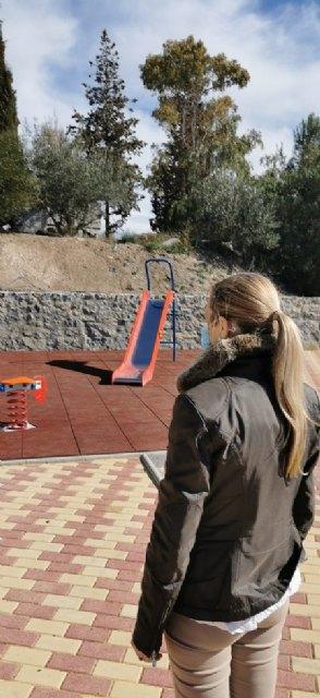 La alcaldesa visita las obras de construcción de una zona recreativa en la pedanía de La Pilá - 1, Foto 1