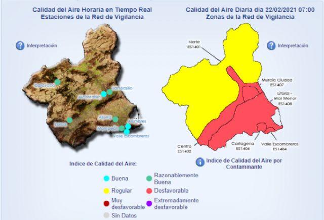 Activado el Nivel 2 correctivo en La Aljorra y el Nivel 1 preventivo en Alumbres, Mompeán y Valle de Escombreras por un episodio de contaminación - 1, Foto 1