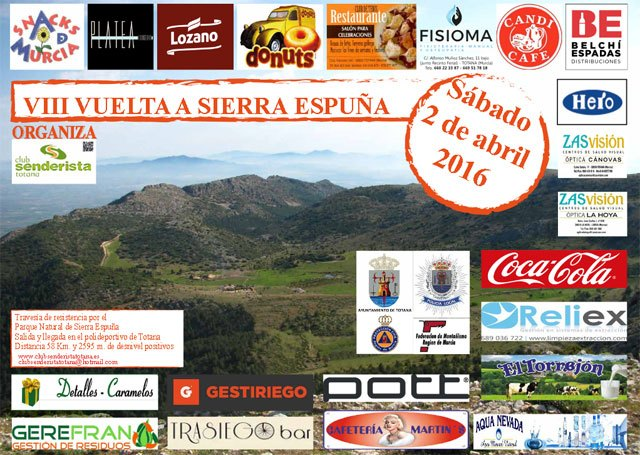 La VIII Vuelta a Sierra Espuña, organizada por el el Club Senderista Totana, tendrá lugar el próximo 2 de abril - 1, Foto 1