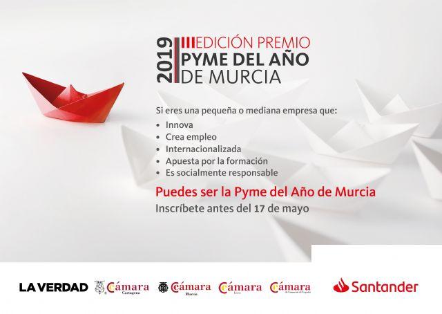 Banco Santander y las Cámaras de Comercio de Cartagena, Murcia y Lorca convocan el Premio Pyme del Año 2019 de Murcia, Foto 1