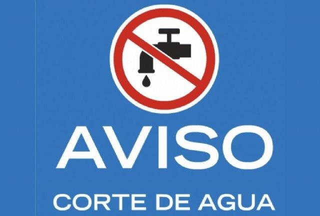 Se cortará el suministro de agua potable en los barrios altos del casco urbano de Totana este miércoles