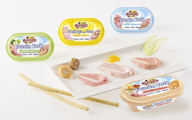 La gama de cremas para untar y dipear de ElPozo crece con la variedad jamón york ´toque mediterráneo´, Foto 1