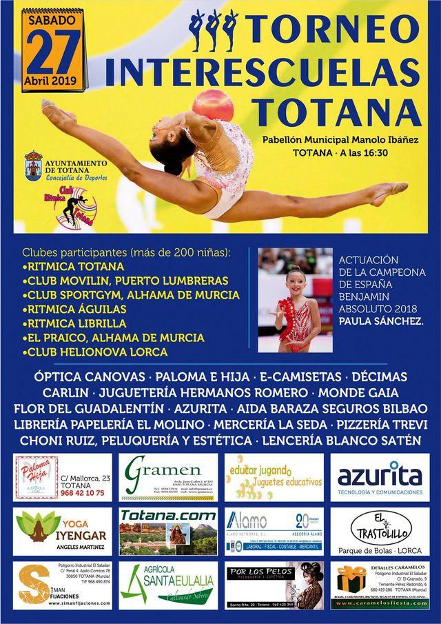 Totana acoger� el pr�ximo s�bado el Torneo Interescuelas de Gimnasia R�tmica, Foto 1