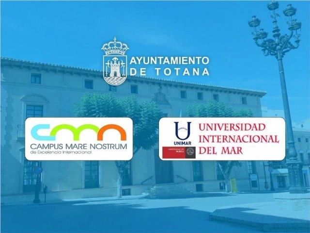 [El Ayuntamiento y la UMU suscriben un convenio de colaboración para regular las actividades de la sede de la Universidad Internacional del Mar en este municipio
