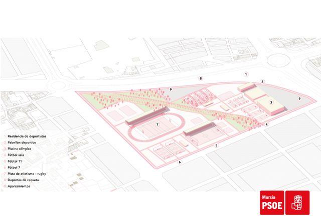 Serrano: Haremos de Murcia un referente del deporte base y de competición construyendo una Ciudad Deportiva en el norte del municipio - 2, Foto 2