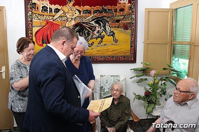 El alcalde felicita al vecino Diego Sánchez Andreo, con motivo de su centenario cumpleaños - 4, Foto 4