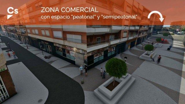 Ciudadanos realizará la primera semipeatonalización de una zona comercial en Cehegín - 1, Foto 1