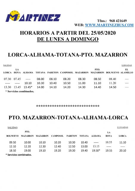 El lunes se reanuda la l�nea de bus urbano de Mazarr�n, Foto 2