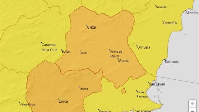 Murcia activa el Plan Territorial de Protección Civil del municipio en fase de preemergencia por aviso naranja de fuertes lluvias - 1, Foto 1