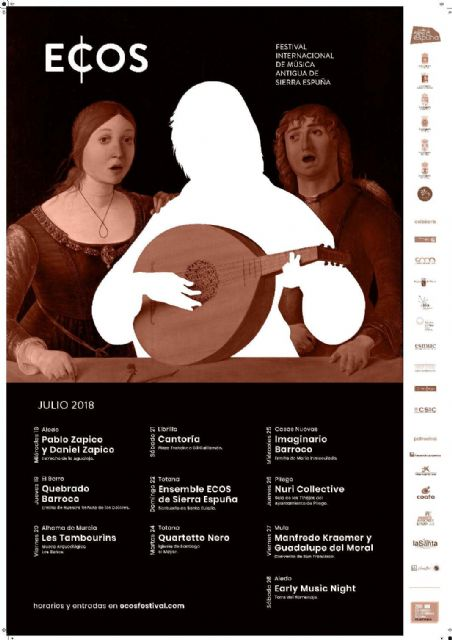 The Commonwealth of Sierra Espuña presents the poster of the third edition of ECOS, its festival of Ancient Music, to be held during the month of July in emblematic places of the participating municipalities, Foto 6