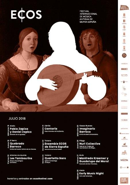 La Mancomunidad de Sierra Espuña presenta el cartel de la tercera edición de ECOS, su festival de Música Antigua, Foto 4
