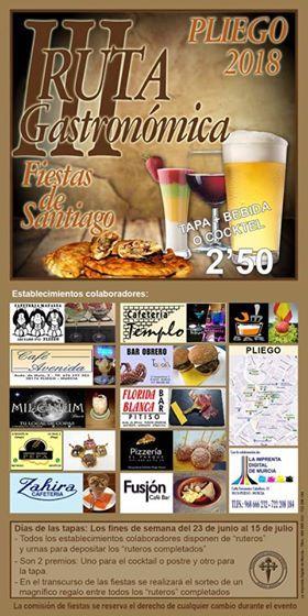 Este fin de semana comienza la 3ª Ruta Gastronómica con motivo de las Fiestas de Santiago - 1, Foto 1