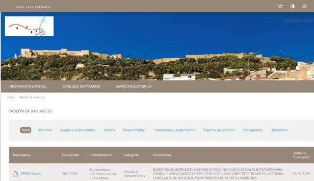 El Ayuntamiento de Puerto Lumbreras implementa un nuevo sistema integral de Administración electrónica para mejorar la atención al ciudadano - 1, Foto 1