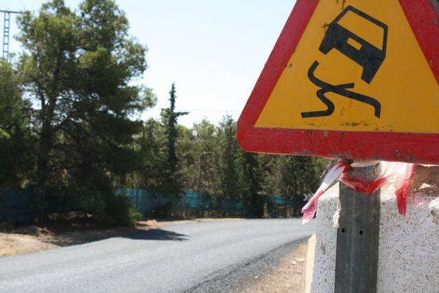 La carretera RM-503, que une Totana y Aledo, se prepara para recibir la Vuelta Ciclista a España mediante la reparación del firme en la zona de Las Alquerías - 2, Foto 2