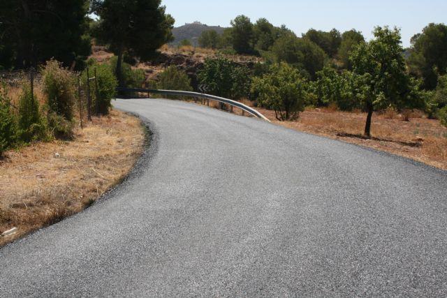 La carretera RM-503, que une Totana y Aledo, se prepara para recibir la Vuelta Ciclista a España mediante la reparación del firme en la zona de Las Alquerías - 4, Foto 4