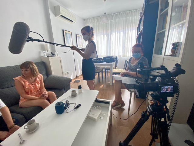 Mercedes Imbernón rueda en Murcia el cortometraje El andén de Rubén - 2, Foto 2