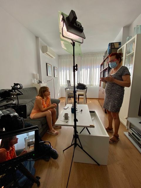 Mercedes Imbernón rueda en Murcia el cortometraje El andén de Rubén - 4, Foto 4