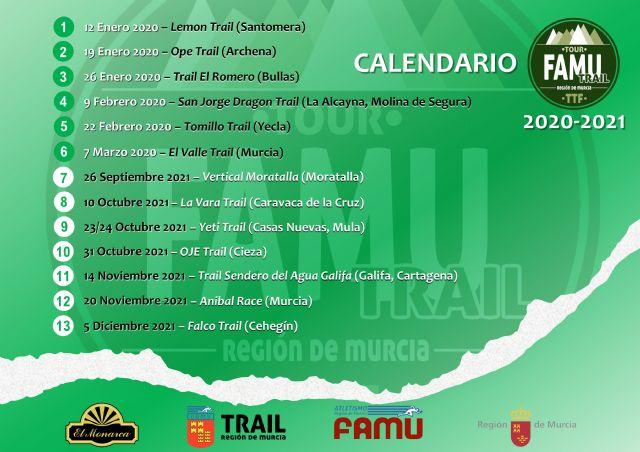 Disponible reglamento y calendario Trail Tour FAMU 2020-2021 - 1, Foto 1
