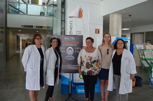 La campaña contra el mal uso de toallitas húmedas llega al Hospital Los Arcos - 1, Foto 1