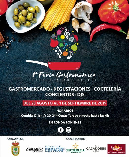Fuente Álamo inicia mañana sus Fiestas con más de 70 actividades repartidas en diez días y con la novedad de la I Feria Gastronómica - 2, Foto 2