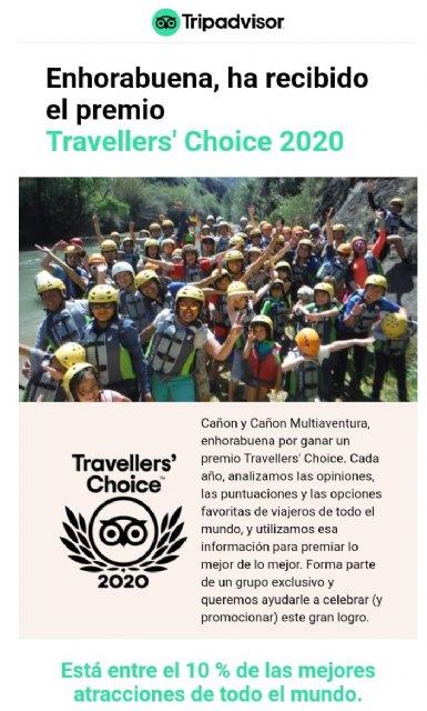 Cañón y Cañón Multiaventura, empresa de Turismo Activo de Calasparra, consigue el Travellers' Choice de TripAvisor 2020 - 4, Foto 4