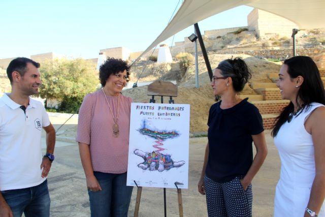Un cartel de la artista local Adela García Olivares anuncia las fiestas de Puerto Lumbreras - 1, Foto 1